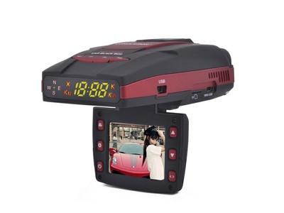 征服者1380H行车记录仪和流动固定测速电子狗一体机 全高清