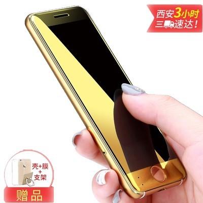 优乐酷V66 移动版 卡片手机 双面钢化玻璃镜面 金伯利 iPhone备用机 黑色