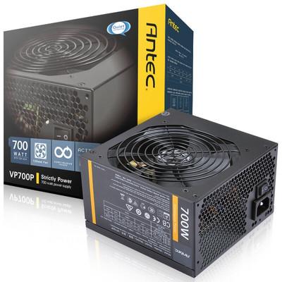 【行货保证限时特惠】安钛克(Antec)额定700W VP 700P 电脑电源(主动式PFC/12CM静音风扇/双组12V输出/台式机电源)
