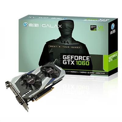 影驰 GeForce GTX 1060虎将3G显存现货 台式电脑游戏独立显