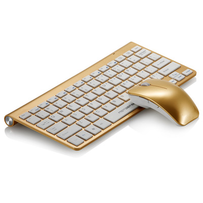 G9800摩豹无线 键盘土豪金笔记本无线键盘鼠标套装无线鼠标键盘 女生