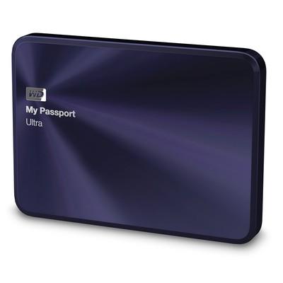 WD/西部数据 移动硬盘 My Passport Ultra 2tb 宝石蓝
