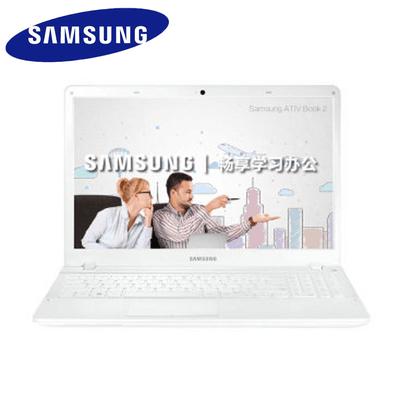 【官方授权】三星(SAMSUNG)270E5K-K01(intel 3215强劲双核 4G 500G 15.6英寸防眩光屏) 办公学习笔记本电脑 WIN10