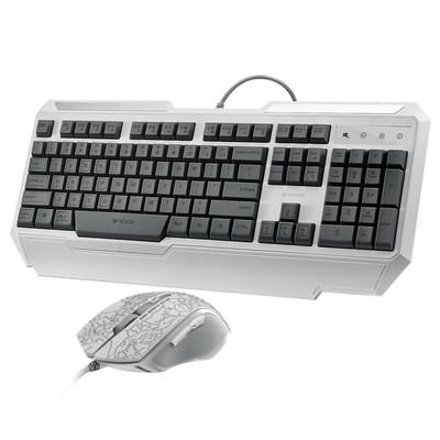 雷柏V100C背光游戏套装 游戏键盘 背光键盘 键盘鼠标套装