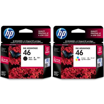 惠普(HP) CZ637AA 46号墨盒套装 (适用HP DeskJet 2020hc/2520hc/2529/2029/4729)