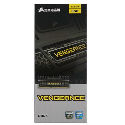 海盗船 复仇者 DDR3 1600 8GB 台式机内存  单根8G