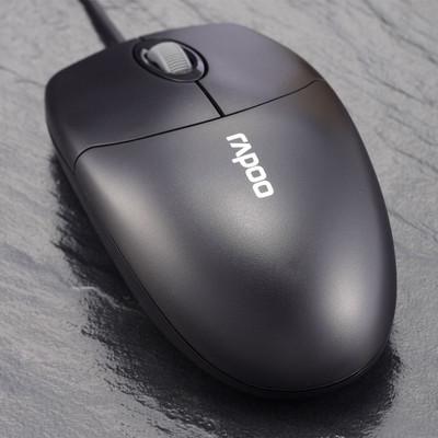 雷柏 N1020有线鼠标 实用型鼠标 电脑鼠标