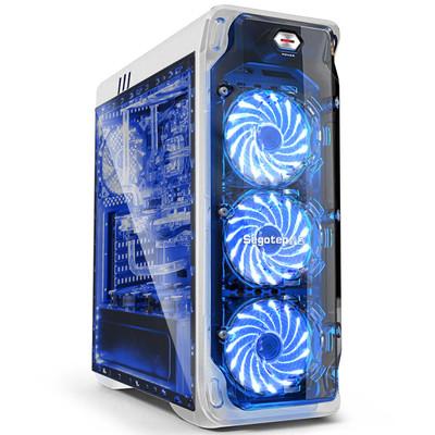 鑫谷LUX拉克斯机箱 全透明面板 全侧透侧板 支持ATX大板 支持背线 透明台式机电脑主机箱